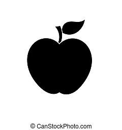 forma, vettore, mela