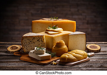 formaggi, set, vario