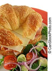 formaggio, 2, prosciutto, croissant