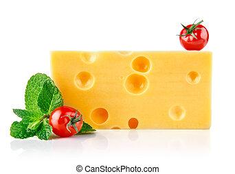 formaggio, foglia, pomodori, giallo