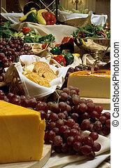 formaggio, uva