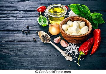 formaggio, vita, cibo, ancora, mozzarella, italiano