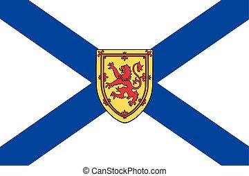formato, vettore, scotia, provincia, nova, canada., bandiera