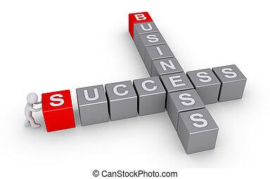 forme, cruciverba, affari, successo, persona