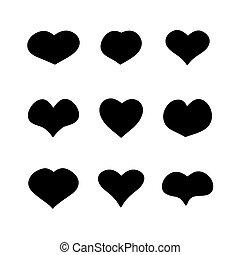 forme, cuore, principale, set