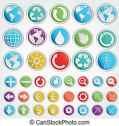 forme, simboli, set, vettore, vario