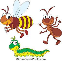 formica, bruco, ape