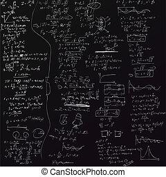formule, vettore, fondo, fisico