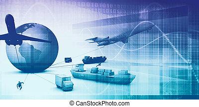 fornitura, catena, analytics