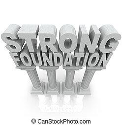 forte, fondazione, colonne, granito, marmo, parole