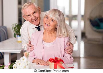 foto, coppia, magnifico, anziano, modellistica
