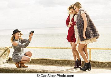 foto, modelli, battuta caccia maniera