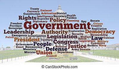 foto, parola, nuvola, governo