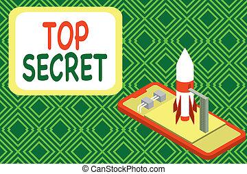 foto, secret., trattative, negoziati, dire bugie, affari, scrittura, lancio, razzo, cima, gergo, dire, smartphone, esposizione, showcasing, lui, o, avvio, informazioni, mano, concettuale, dire, importante, dati, begin., qualcuno