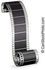 foto, torto, illustrazione, rotolo, vettore, video, fondo, striscia, bianco, o, film