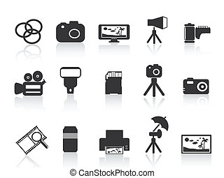 fotografia, elemento, icona