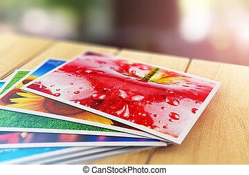 fotografie a colori, fuori, legno, immagini, tavola, pila