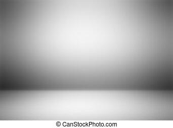 fotografo, chiaro, studio, vuoto, fondo.