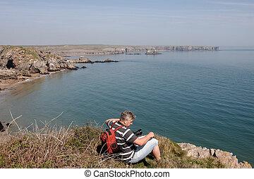 fotografo, pembrokeshire, sentiero costiero