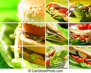 fotomontaggio, cibo, spuntino