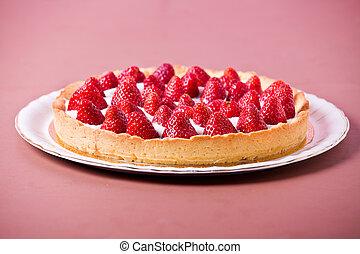 fragola, saporito, torta