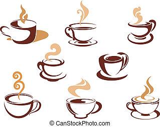 fragrante, tazze caffè