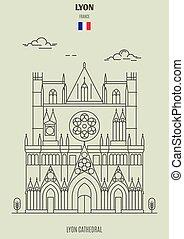 france., cattedrale, punto di riferimento, icona, lyon, lyon