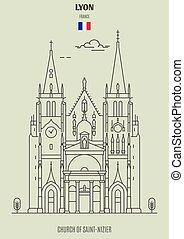 france., chiesa, punto di riferimento, saint-nizier, icona, lyon