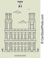 france., eglise, saint-sulpice, punto di riferimento, icona, parigi