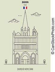 france., notre-dama, chiesa, punto di riferimento, icona, dijon