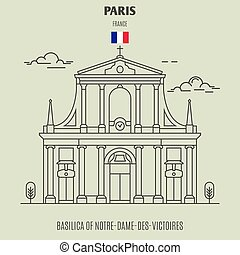 france., notre-dame-des-victoires, punto di riferimento, basilica, icona, parigi