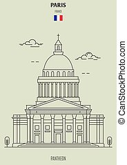 france., pantheon, punto di riferimento, icona, parigi