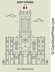 france., saint-etienne, cattedrale, punto di riferimento, etienne, santo, icona