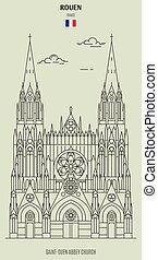 france., saint-ouen, chiesa, abbazia, punto di riferimento, icona, rouen