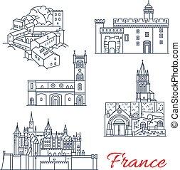 francia, aquitaine, limiti, giri, viaggiare