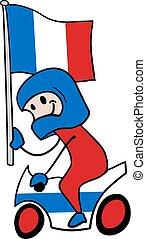 francia, driver, moto