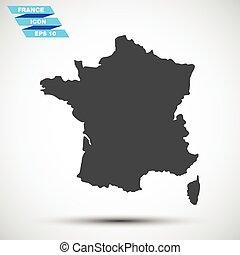 francia, grigio, vettore, icona