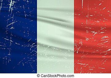 francia, grunge, flag.