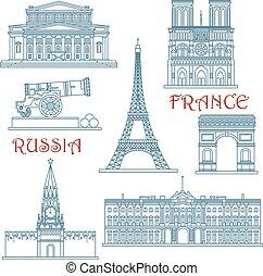 francia, linea sottile, limiti, russia