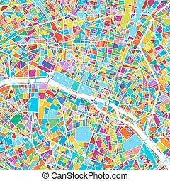 francia, mappa, vettore, parigi, colorito
