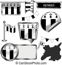 francia, rennes, bandiera