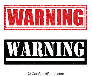 francobolli, avvertimento