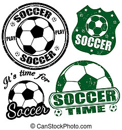 francobolli, calcio, set
