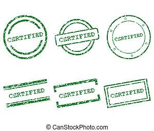 francobolli, certificato