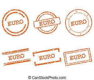 francobolli, euro