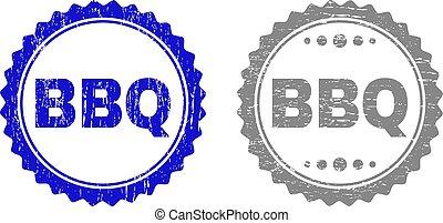 francobolli, grunge, bbq, textured
