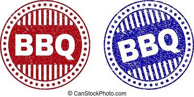 francobolli, grunge, rotondo, bbq, textured