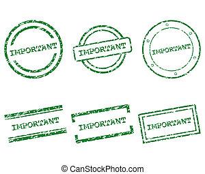 francobolli, importante