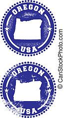 francobolli, oregon, stati uniti