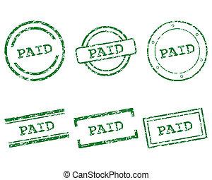 francobolli, pagato